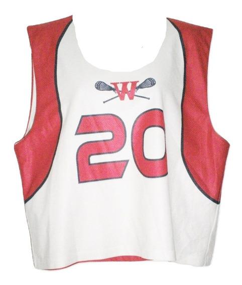 Jersey Playera Westlake Raquetas Lacrosse 2 Vistas Talla L Usada Reversible Liquidacion $479a