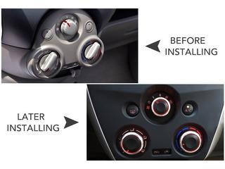 3 Perillas Aluminio Aire Acondicionado Nissan March