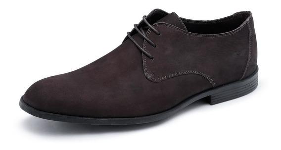 Sapato Masculino Netto Em 100% Couro Nobuck Bru039