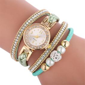 Relógio Feminino Com Bracelete Pulseira E Pingente Luxo