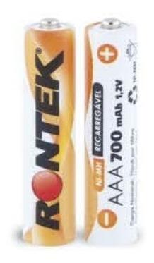 Bateria Recarregável Aaa 1,2v 700mah (11x45mm) C/ 02 Un Ront