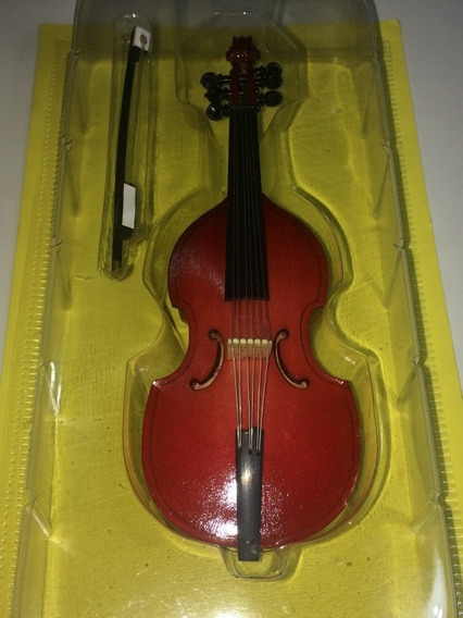 Miniatura Colección Viola De Gamba Instrumento Madera Metal