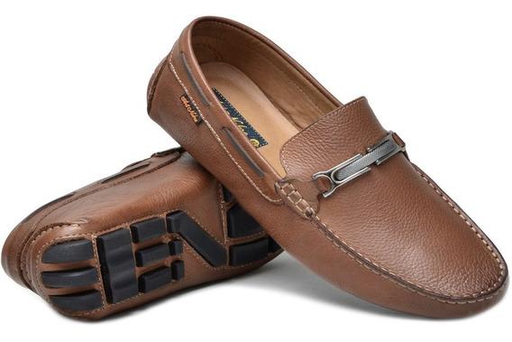 Sapato Mocassim Masculino Todo Em Couro Legítimo Em Estoque