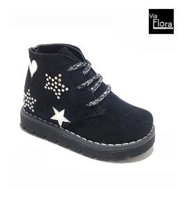 Zapatos De Niñas Botinetas Gamuza (ch/b81) Envio Gratis