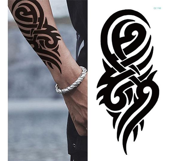 Tatuagem Tribal Para O Braço, Temporária, Rock Motociclista