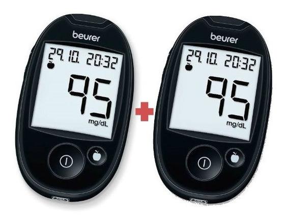 Combo 2 Piezas Glucómetro Diabetes Glucemía Gl44 Beurer