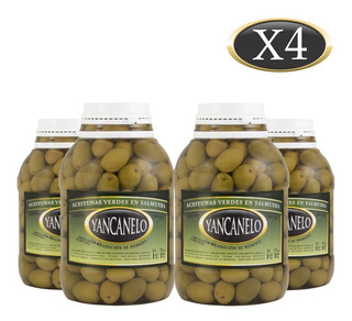 Aceitunas Verdes Yancanelo Bidón 1 Kg X 4 U