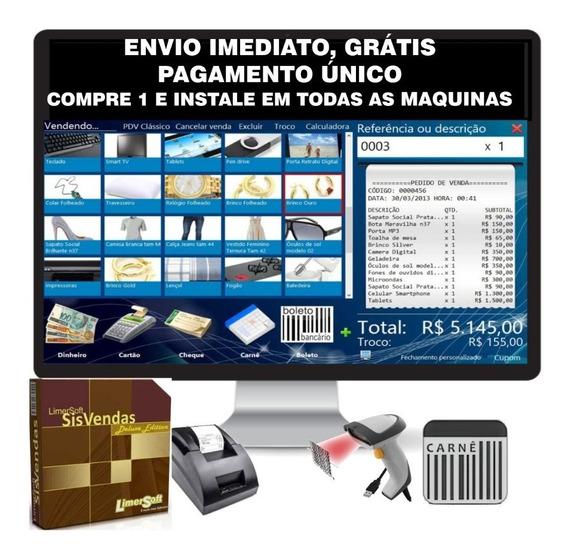 Software Completo, Gestão Estoque, Vendas, Caixas, Pdv, Loja