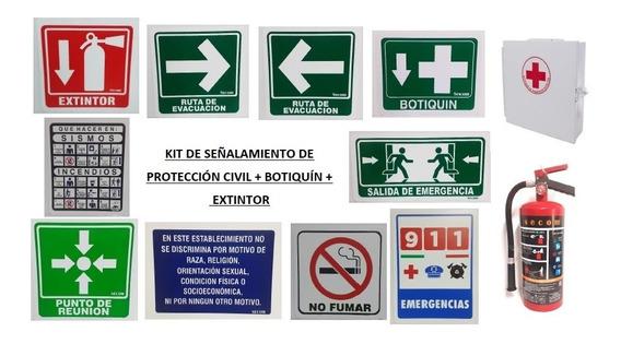 Kit-paquete De Señalamientos De Protección Civil Integral