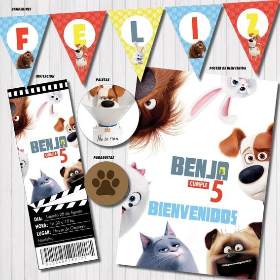 Kit Imprimible La Vida Secreta De Tus Mascotas Personalizado