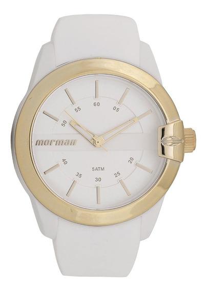 Oferta Relógio Feminino Mormaii Branco Dourado Analógico