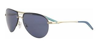 Costa Del Mar Helo 580plastico Gafas De Sol Champan Mate Azu
