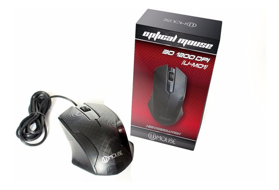 Mouse Optico Usb 1200 Dpi Alambrico 3d Nuevo U-m01 Gamer