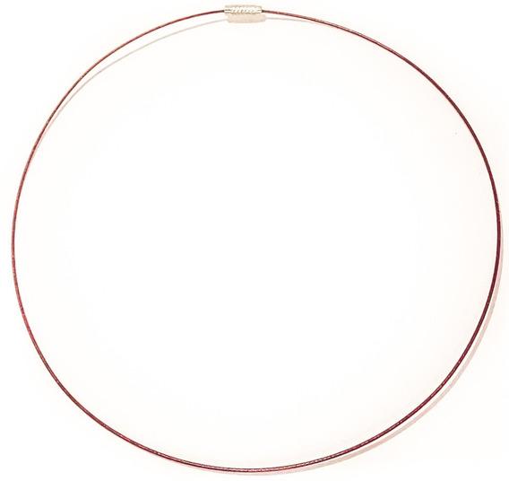 Collar Acero Quirúrgico Color Rígido 45 Cm. Cierre A Rosca