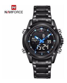 Naviforce Nf9050 Led Masculino Digital-analógico Azul