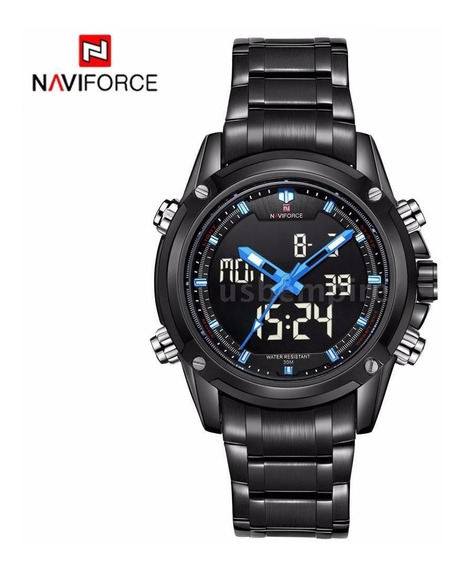Naviforce Nf9050 Led Masculino Digital-analógico Azul