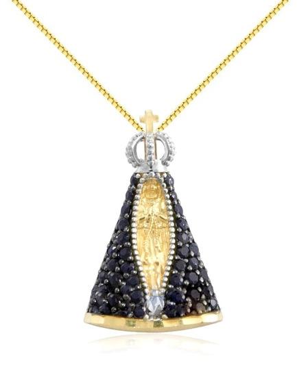Corrente De Ouro18k 1,5g Pingente N Sra. Aparec Viagold M56