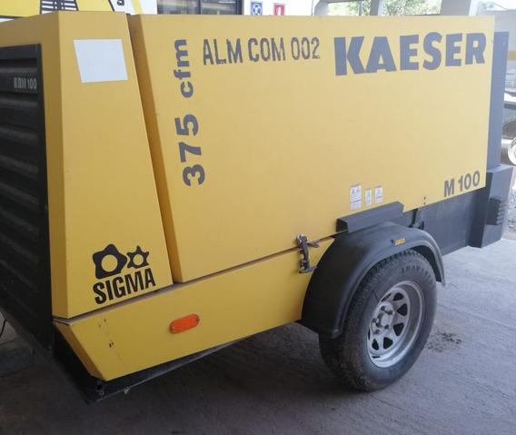 Compresor Kaeser Modelo M 100 375 Cfm Solo 1185 Hrs De Uso