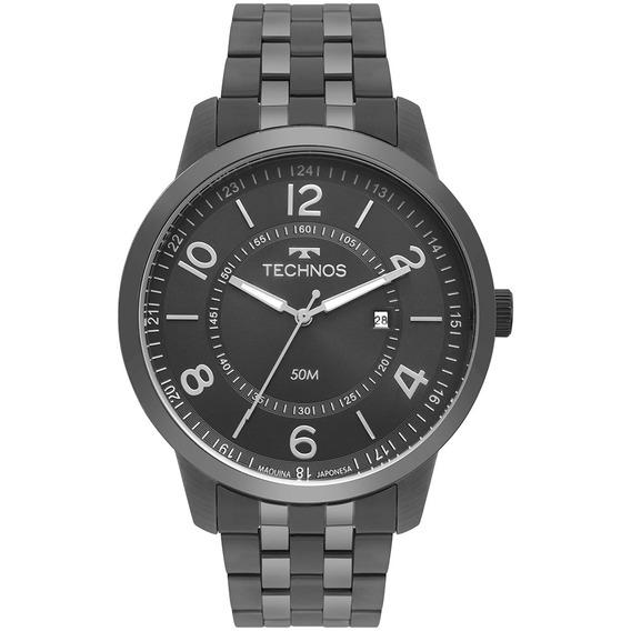 Relógio Masculino Technos Steel Grafite 2115mss/4c