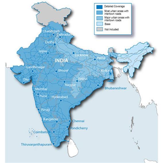 Mapa City Navigator India P/ Gps Garmin