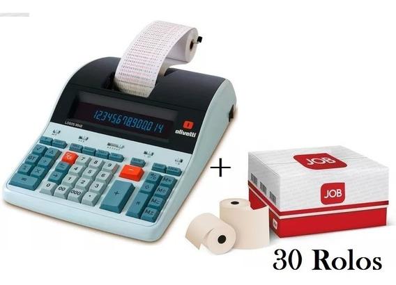 Calculadora De Mesa Olivetti Log 804t 14 Digitos + 30 Bobina