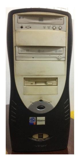 Cpu Pentium 4 2.4 Ghz 768mb Memória Hd 30gb Gabinete Defeito