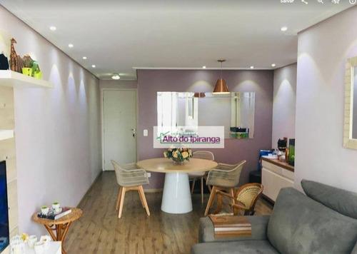 Apartamento Com 3 Dormitórios À Venda, 85 M² Por R$ 850.000,00 - Vila Gumercindo - São Paulo/sp - Ap4982