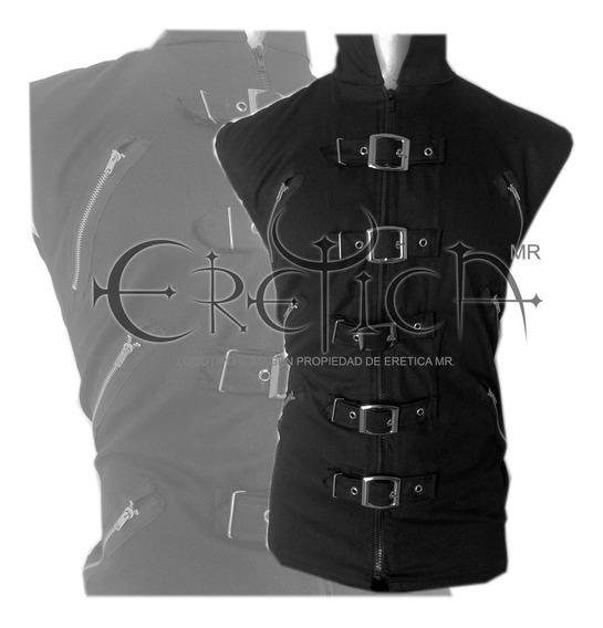 Eretica Ropa Dark-chaleco Algodon Hebillas Cierres-gotico
