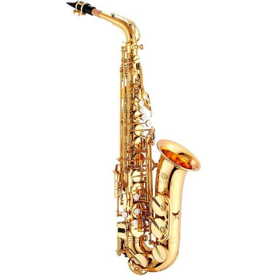 Saxofone Alto Sax Jupiter Jas500 Dourado Laqueado Eb C/ Case
