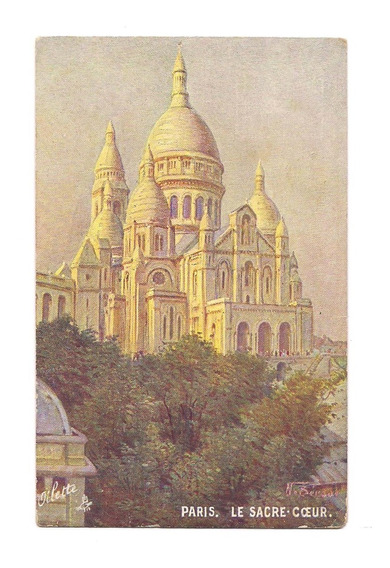 Antigua Postal Paris Le Sacre Coeur Sagrado Corazon N 585