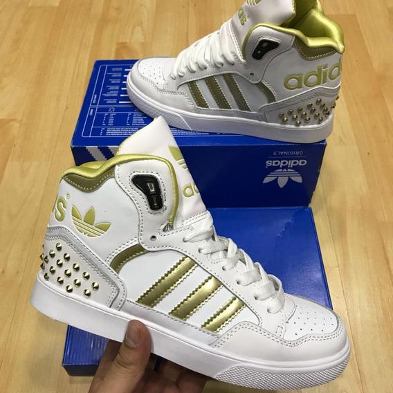40e86b23f5d1 Tenis Color Dorado En Bota Para Mujer - Tenis Adidas en Mercado ...