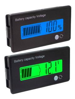 Medidor De Bateria 12v Porcentagem % Tensão Voltímetro Lcd