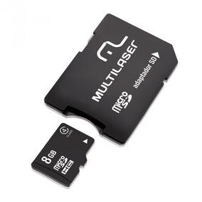 Cartão De Memória Multilaser Mc004 Micro Sd 8gb Com Adaptado