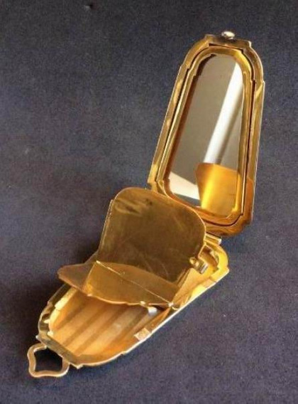 Mini Porta Maquiagem De Luxo -antiga Trusse Da Década De 20.