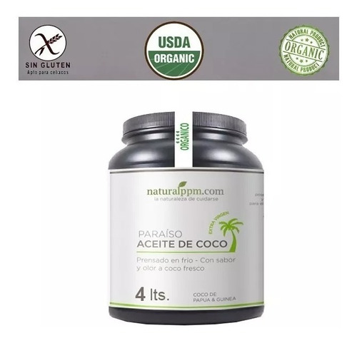 Aceite De Coco 4 Litros Galon Oferta Organico