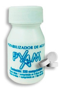 Pastillas Potabilizadoras De Agua Pyam Pote 220 Unidades