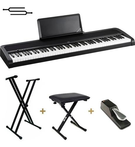 Teclado Korg B2 Piano 88 Teclas Pesadas Pie Banqueta Envio