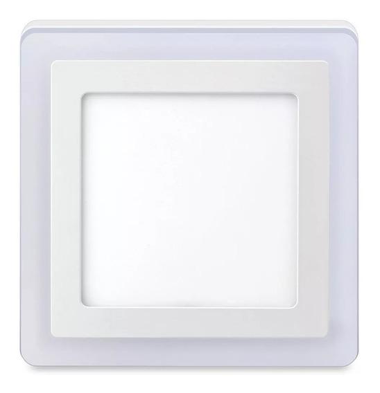 3 Luminária Quadrada Sobrepor 3 Estágios Led 12w + 6w = 18w