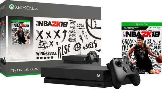 Console Microsoft Xbox One X - 1tb - 4k - Com Jogo Nba 2k19