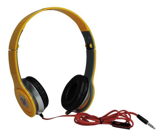 Fone De Ouvido Estéreo Ro Headphone P2 - Amarelo