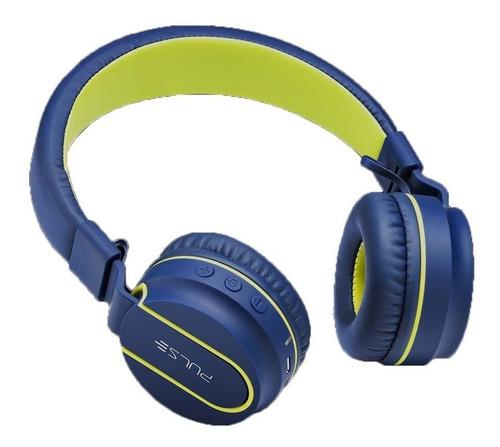 Fone De Ouvido  Bluetooth Pulse Fun  Azul E Amarelo Ph218