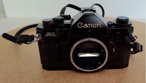 Câmera Fotográfica De Filme Canon A-1 + Objetivas Fd