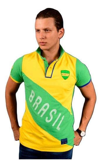 Playera Polo Portoblanco Hombre Mundial Brasil Ple-501