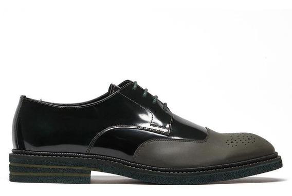 Zapato Vestir Piel Hombre Blucher Acabado Antic Prada Mx