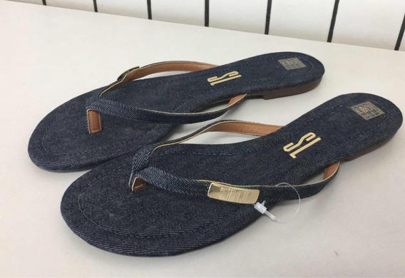 Chinelo Santa Lolla Jeans Original Com Dourado Novo 39