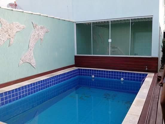 Casa, Sobrado 3 Dormitórios, 150 M² Por R$ 560 Mil, Aviação, Praia Grande, Piscina - So0007