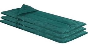 Kit Com 3 Sacos De Dormir Com Zíper Para Acampar Verde