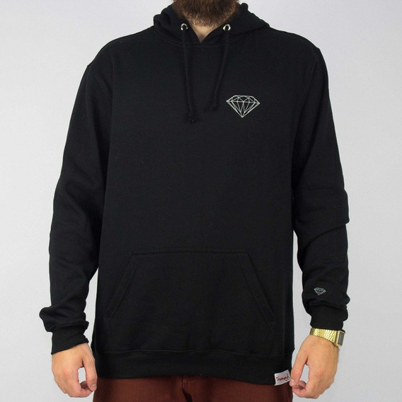 Moletom Diamond Brilliant Hoodie Preto Original