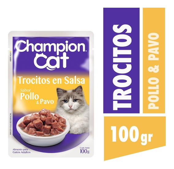 Champion Cat Pouch Pollo Y Pavo 24 X 100 G
