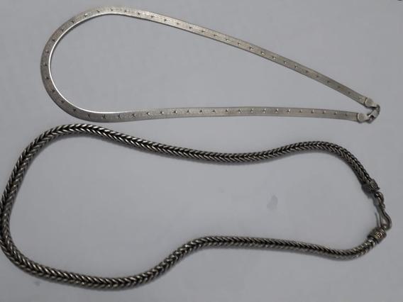 Corrente De Prata 925 Bali (51 Cm)+corrente Feminina 45cm